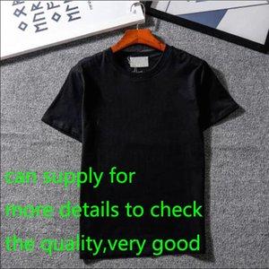 Новые дизайнер футболки Мужская одежда Марка Верхняя майка Мода лето Tide Braned Letters Printed Роскошные Мужчины Рубашка Одежда M-2XL