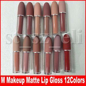 M Makeup Matte Lip Gloss Nude Liquid Lipstick Lustre Labbra Lipgloss 12 colori