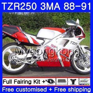 Kit Para YAMAHA TZR250RR TZR-250 TZR 250 88 89 90 91 Corpo 244HM.41 TZR250 RS RR YPVS 3MA fábrica tampo vermelhoTZR250 1988 1989 1990 1991 Carenagem