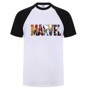 Moda Marvel Camiseta de manga corta para hombre Camiseta con estampado de superhéroe O-cuello Comic Marvel Camisetas Tops Hombre Ropa Tee XS-3XL