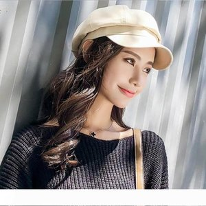 Vintage Women Beret Autumn Winter Octagonal Cap Hats Stylish Artist Painter Newsboy Caps Black Grey Beret Hats