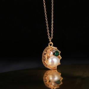 2020 della collana del pendente Nuovo commercio all'ingrosso dolce naturale dell'acqua Baroque Pearl a mano per le donne matrimonio moglie personalizzabile Belle