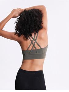 LU-73 donne Bra Linea Long Energy Pushing Limits Texture mezzo di supporto aC Coppa dimenticare il resto di allenamento di ginnastica di yoga Sexy Lady maglia della biancheria intima