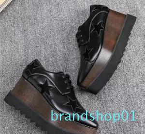 Neue Ankunfts-italienische Marke Stella McCartney Schuhe Frauen-verursachende Frauen Schuhe Sterne Wedges Sohle Plattform echtes Leder ddf-3