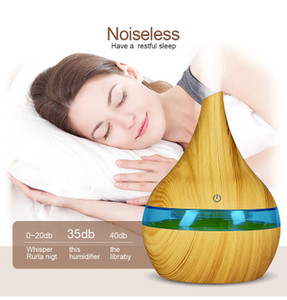 New Hot 300ml USB Electric Aroma Air Diffuser Wood Ultrasonic Air Humidifier Essential Oil Cool Mist Maker For Home EEA1100-1