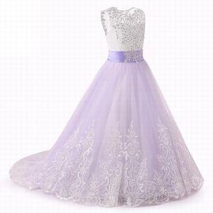 Charming Flower Girl Dress Girl Party Princess Pageant Wedding Bridesmaid Kids Dresses SMT02
