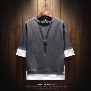 Pop2019 Kısa Kollu T Yazık Adam Desen Öğrenci Yaz Giyim T-shirt Kore Ince Render Çizgisiz Üst Giysi Gelgit