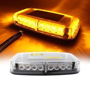 DC12V 24V 24 LED Amber Red Blue Car Roof Strobe Light Emergency Beacon Flashing warning Light Magnetic Mounted