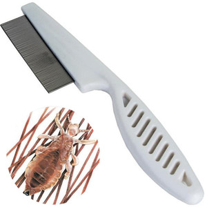 Pet Metal Hair Lice Comb Cat Dog Flea Handle Comb Stainless Steel Grooming Tools Dog Cat Hair Lice Nit Comb