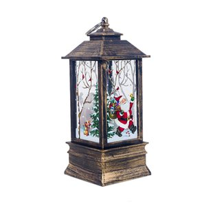 BMBY-Christmas Decorations for Home Lantern Led Candle Tea Light Candles Santa Deer Snowman Lamp Decoration New Year Ornament