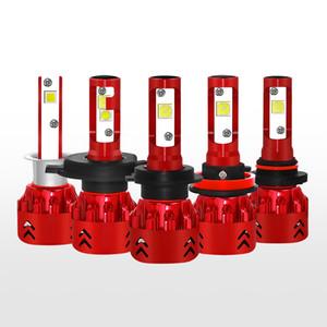 2 개 / 설정 MINI 7 LED 전조등 H1 H4 H7 H11 9005 9006 자동차 헤드 라이트 전구 6000K 60W 주도 Automotivo 라이트 12V 24V