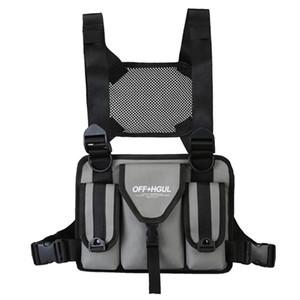 Fashion Chest Bag Reflective Vest Hip Hop Streetwear Functional Harness Rig Bag Pack Front Waist Pouch Backpack Men Women *