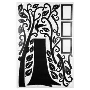 Gran árbol familiar etiqueta de la pared para la sala de estar dormitorio sofá telón de fondo de fondo de la pared extraíble decoración de la etiqueta engomada 180 x 250 cm