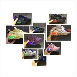 NIKE AIR MAX shoes Flash Light Air Huarache Crianças 2019 Novos Tênis de Corrida Infantil Run Crianças esportes sapato ao ar livre luxry Tênis huaraches Formadores Kid Sneakers