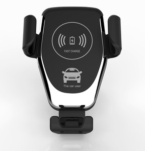 Q12 cargador de coche inalámbrico 15W cargador rápido Wireless Soporte teléfono móvil gravedad móvil compatible para iPhone Samsung todos los dispositivos Qi