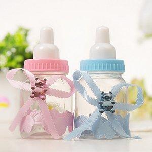 24PCS الإبداعية التمريض زجاجة علب الحلوى للحصول على حفل زفاف صالح الوردي + الأزرق