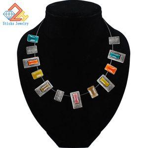 Мода Эмаль Ожерелье Кулон Кабельное Соединение Смешивание Мода Заявление Ожерелье Женские Ювелирные Изделия