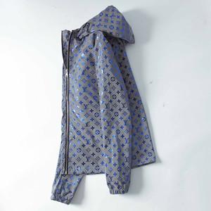 Lüks 5D yansıması Erkekler Kadınlar Tasarım Ceket Coat Lüks Kazak Hoodie Uzun Kollu Sonbahar Spor Fermuar Marka WINDBREAKER Erkek Giyim