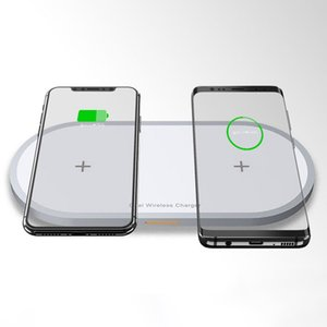 HOT-Two-Seat Wireless Charger 10W Fast Charge Applicable for Apple Xiaomi Huawei Oppo Smart Watch and Other Two Devices Charging
