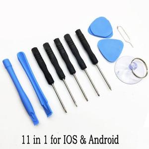 Teléfono celular herramientas reparing 9 en 1, 11 en 1 reparación de la palanca de apertura Kit de Herramientas de Pentalobe Torx Destornillador para el iPhone IOS y Android FY4075