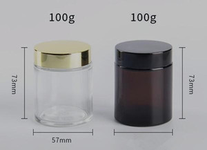 100g amber glass jar with gold lid wide bore mouth 100ml glass container storage cosmetic candle jar