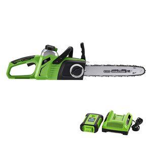Lawn Mower 40V Max agli ioni di litio Brushless Cordless 14 Sega a catena 4.0Ah batteria e caricatore Include