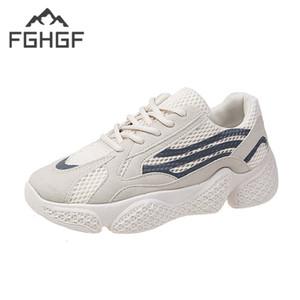 FGHGF Femmes Chaussures Pour 2019 Nouveaux Talons Chunky Baskets Pour Mode Casual Papa Chaussures Plate-Forme Plate-forme Maille PU Baskets Basket Sports