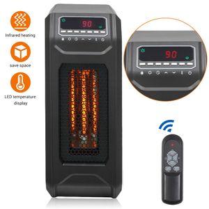 1500 W calentador de espacio infrarrojo cuarzo portátil caliente calentador eléctrico de pie libre Control remoto con modos de ahorro de energía US Stock