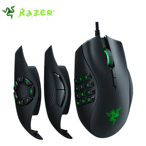 Free shipping Wireless detachable programming mouse Games Mice Razer Naga Programmable Wired Trinity 16,000 DPI RGB Optical Gaming Mouse
