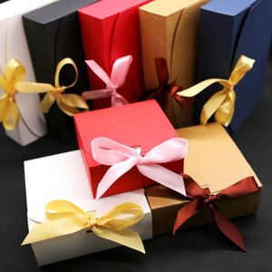 Gift boxes with ribbon,wedding favor boxes,baby shower favor boxes,party gift boxes 10pcs lot