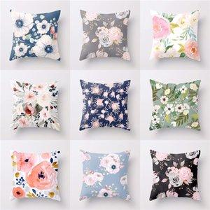 18 pollici floreale di tiro del cuscino di caso Peach Skin Divano Cuscino camelia della Rosa Cuscino decorativo di copertura per la casa