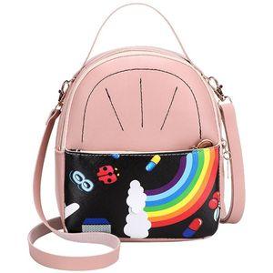 2020 del diseñador de moda de las mujeres del arco iris hombros Mochila Casual monedero del teléfono móvil de la bolsa de mensajero Bolsa Feminina nuevos de la llegada # LR3