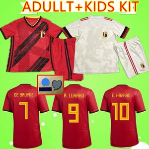 ADULTO + BAMBINO KIT 19 20 Belgio 2019 2020 di calcio MANS jersey SETS E.HAZARD Lukaku De Bruyne Kompany maglie da calcio vestito dei ragazzi