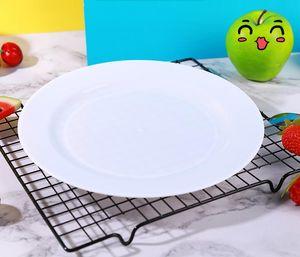 placa de plástico desechable mejores vendedor cubiertos decoración del partido de la torta de los platos del festival 200pcs de moda por la caída de envío de cartón