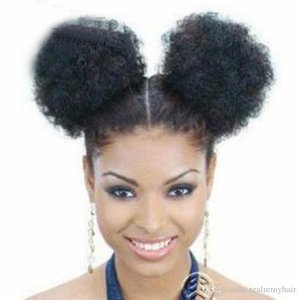 5 Inch High Afro Puff Ponytail Drawstring Short African American Synthetic Kinky Curly Hair Extension for Black Women