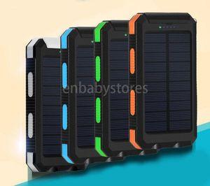 E Waterproof Portable 20000mah Travel Solar Power Bank 2 Usb External Solar Panel Charging Dual Led Light Compass For All Phone