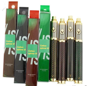 1650mAh Carbon Зрение Spinner 3 батареи E сигареты Vape Pen 510 Thread напряжения Регулируемые батареи Fit 510 Форсунки 4 цвета