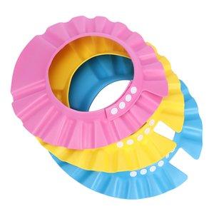 1pc Baby Shampoo baño de los cabritos niños de ducha impermeable del casquillo casquillo seguro del baño de ducha del visera del sombrero ajustable proteger los ojos pelo