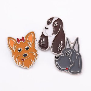 Jack Russell Terrier Brooches for Women Metal Alloy Animal Pet Dog Brooch Clothes Jewelry bag Pin Fashion Dress Coat Accessories