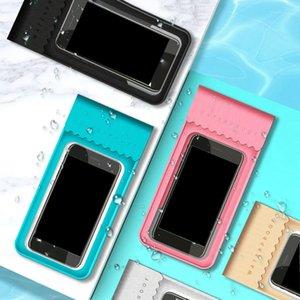 Açık Yüzme Dokunmatik Ekran TPU su geçirmez Yüksek Şeffaf Cep Telefonu Çanta Cep Telefonu Çanta Mühürlü