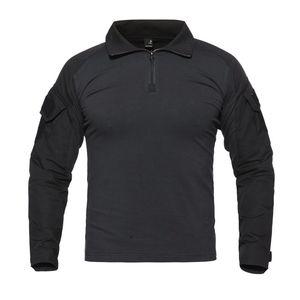 Kamuflaj Uzun Kollu Kurbağa Suit Erkekler Taktik Aracı Kargo Tops t Gömlek Ordu Askeri Avcılık Gömlek
