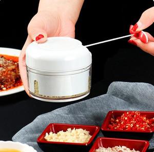 Manuale Pull Hand Mixer Carne Biotrituratori Frutta selettore rotante della casa della cucina del frantoio Mincer Blender cipolla aglio LXL1151-1L
