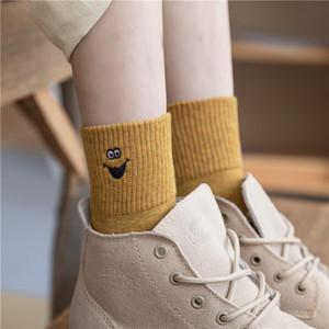 الخريف والشتاء منتج جديد زهونغتونغ عالية القطن Luokou شارع سمسم الجوارب الكرتون الأطفال والتطريز الجوارب الأزياء مضحك الجملة