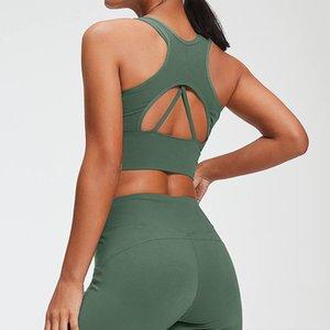 Yoga Ternos Set Ginásio Vestuário Feminino Suit Sport aptidão que funciona Yoga Clothes Superior Yoga Leggings sem costura