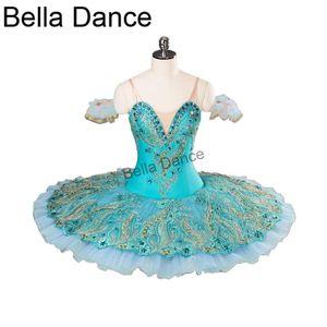 Adulto Azul Verde Competiton Ballet Stage Custume YAGP Mulheres Pancake Tutu Ballerina Tutu Costume DressBT9106
