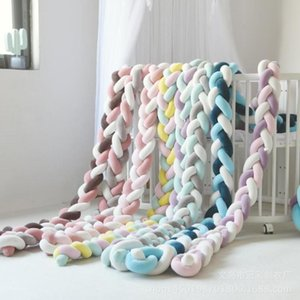 2M Length Newborn Baby Handmade Knot Bed Bumper Long Knotted Braid Pillow Baby Bed Bumper Knot Crib Infant Room Decor Photo prop