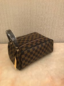 2008women Designer Kosmetik-Taschen Doppel-Reißverschluss Luxus-Reisen Necessaire Art und Weise der berühmten Marke Waschbeutel Make-up Pflegegeldbeutel-Beutel-Reise