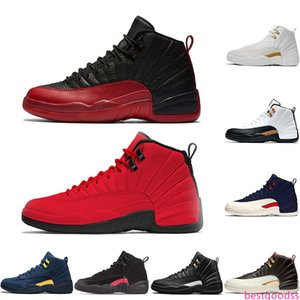 New 12 Winterized Gym Red Mens Basketball Shoes Flu Game College Navy 12s XII Men Designer Trainers Sport Sneakers Shoe US 8-13
