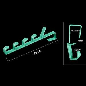 Raf Tutucu Kancalar Plastik Ev Depolama Organizasyon Kancalar Rails Asma Çanta Havlu Giyim için Yatak Odası Kapı Askı