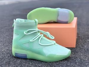 Nave con la caja temor de Dios 1 esmerilado Spruce atlético de los zapatos de diseño Comfort verde menta FOG1 Moda Formadores mejor calidad
